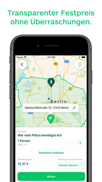 CleverShuttle: Ridepooling App screenshot-1