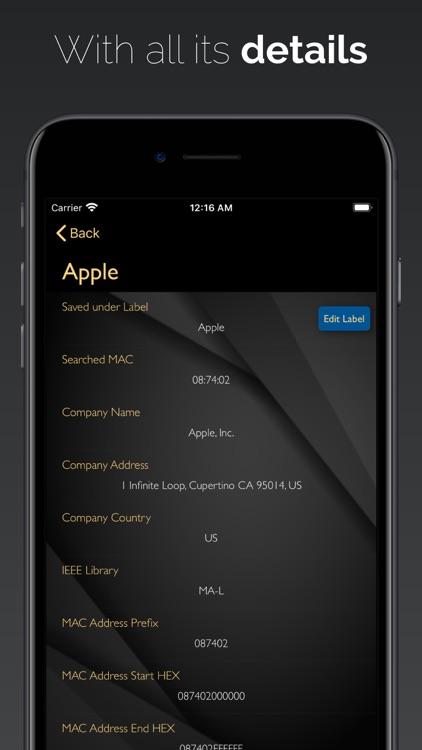 MAC Vendors Pro screenshot-3