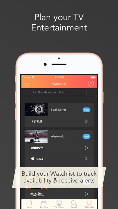 Utelly: TV & Streaming Guide screenshot four