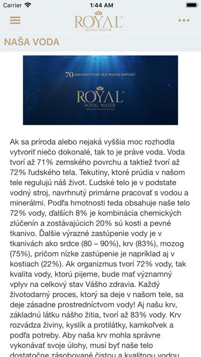 Royal Water SK screenshot 1
