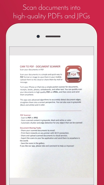 Cam to PDF - Document Scanner screenshot-3