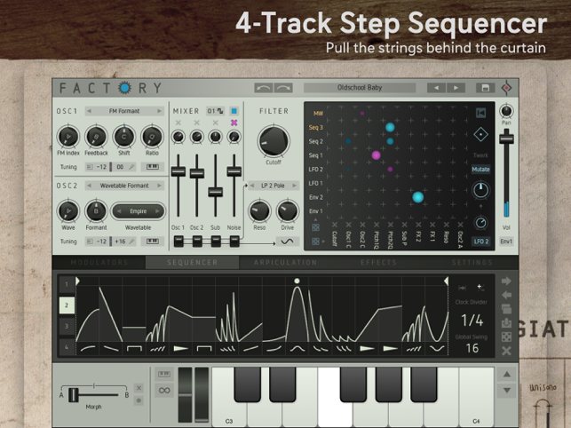 ‎Factory - Modular Synthesizer Screenshot