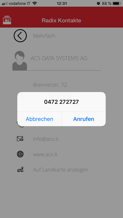 Screenshot of RadixContact3