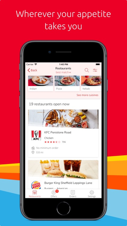Just Eat: food delivery screenshot-1