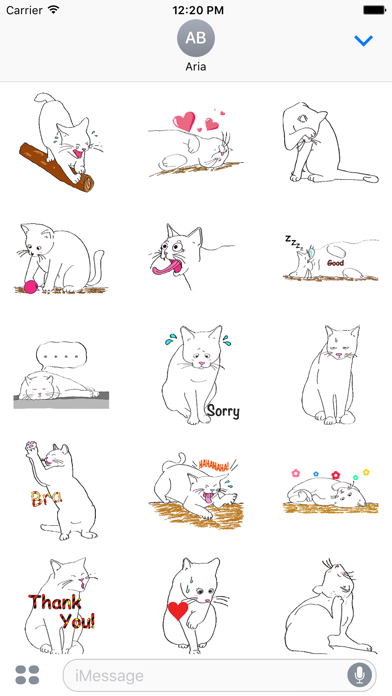 Lovely Pose of Cat Sticker screenshot 2