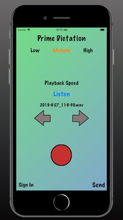Prime Dictation - Audio Record screenshot-4