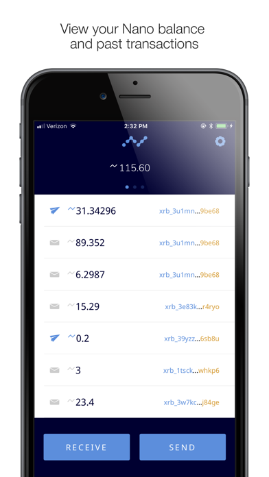 NWC Nano Wallet screenshot two