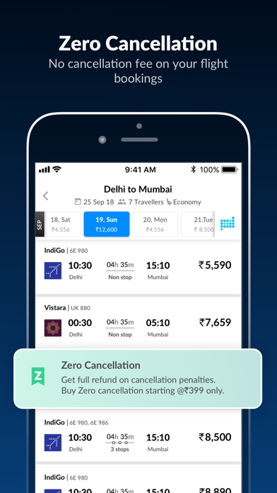 MakeMyTrip, Flights Hotels Bus screenshot