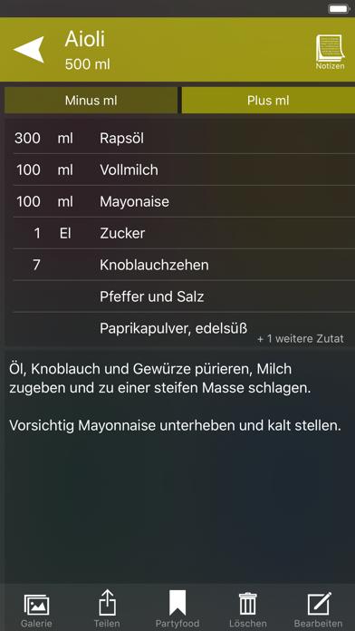 Screenshot for Eigene Rezepte 4 in Germany App Store