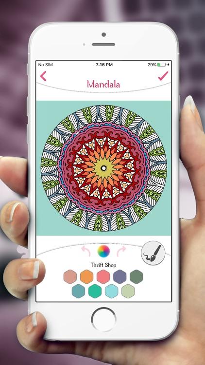 Mandala Coloring Book Pages screenshot-3