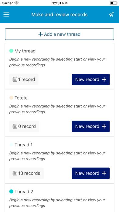 OnRecord screenshot three