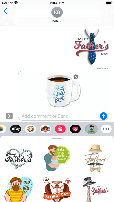 Super Father's Day Stickers screenshot 1