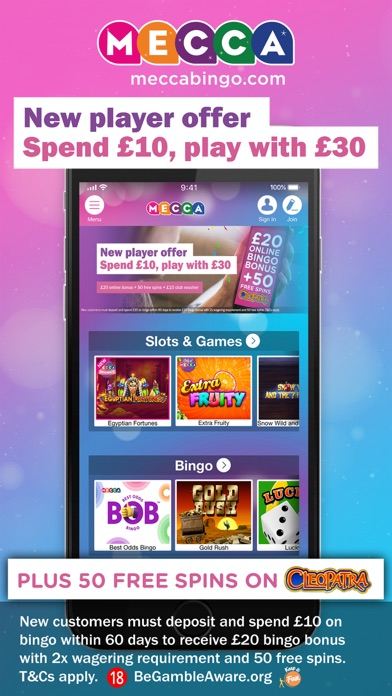 Mecca online bingo & slots