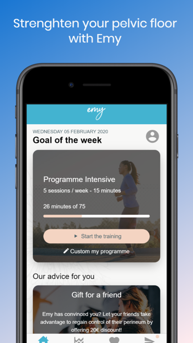 Emy - Medical Kegel exercises screenshot one