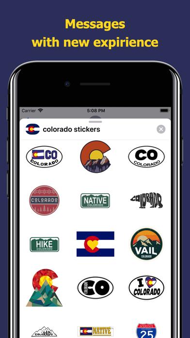 Сolorado emojis - USA stickers screenshot 3