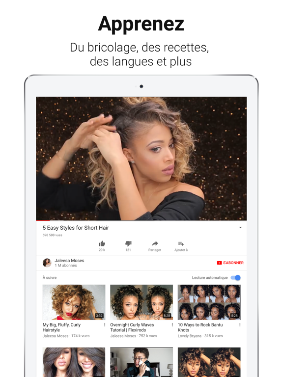 YouTube iPad captures décran