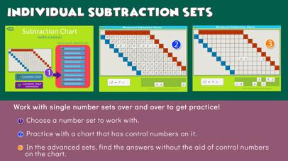 Montessori Subtraction Charts screenshot 5