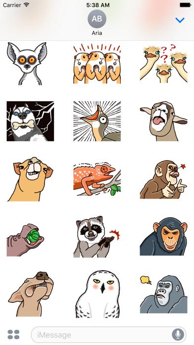 Animated Funny Animals Sticker screenshot 3