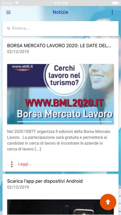Screenshot of Borsa Mercato Lavoro EBTT2