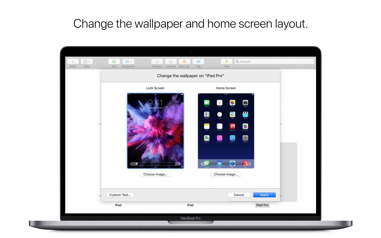 Screenshot do app Apple Configurator 2