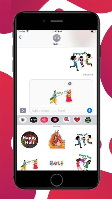 Holi Dhuleti Stickers screenshot 3