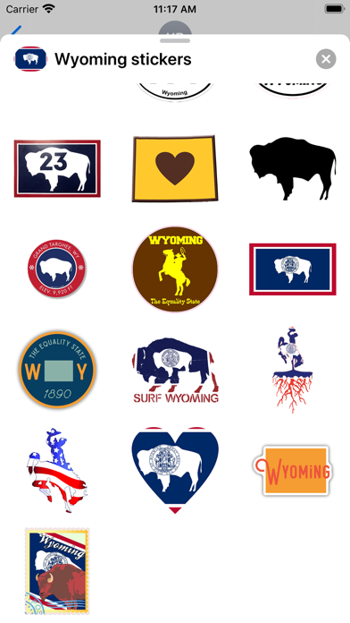 Wyoming emoji - USA stickers screenshot 2