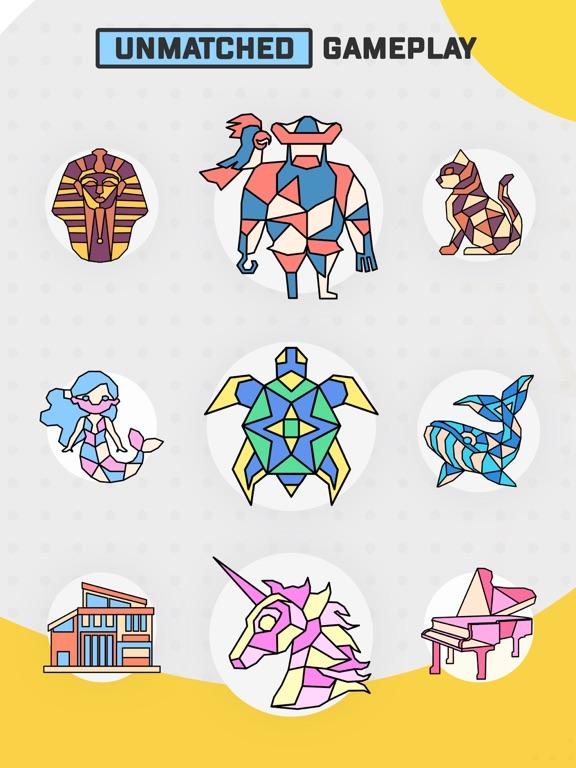 Trio - Polygon Coloring Puzzle screenshot 9