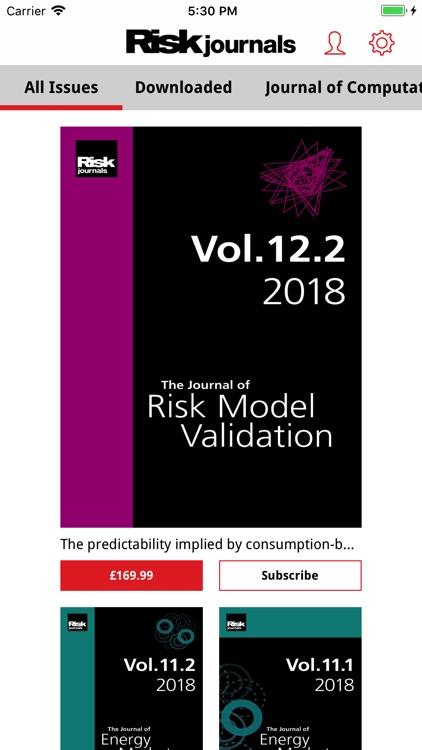 Risk Journals