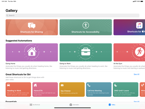 Shortcuts screenshot 8