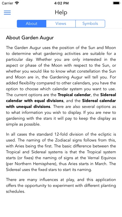 Garden Augur - Moon Calendar