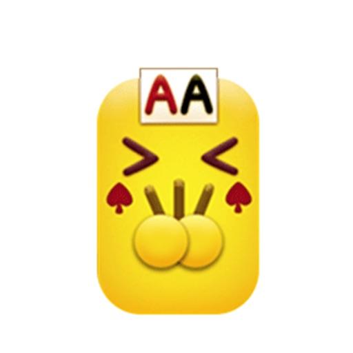 扑克小黄牌stickers
