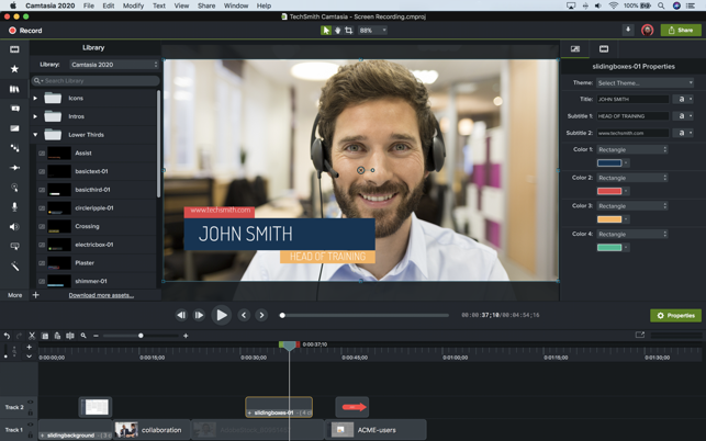 ‎TechSmith Camtasia 2020 Screenshot