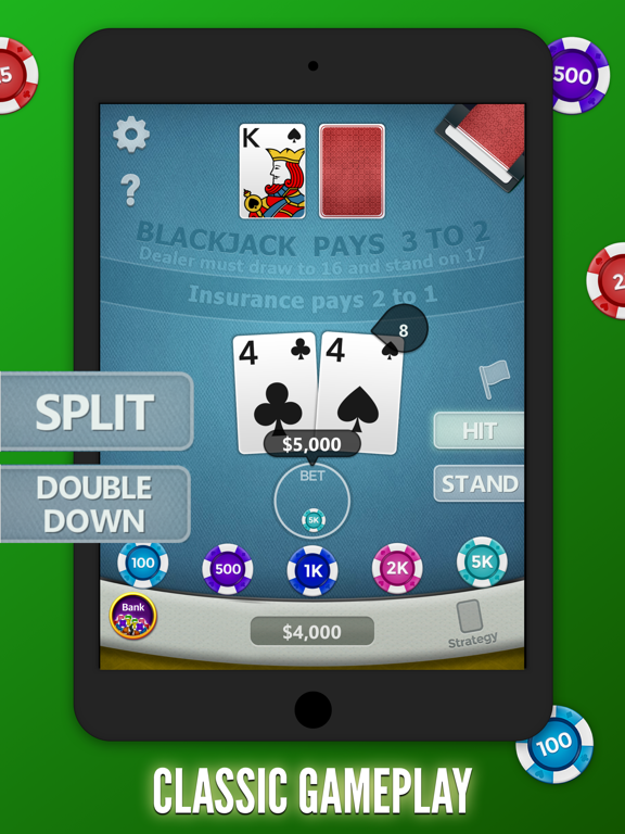 Blackjack 21 Free! screenshot