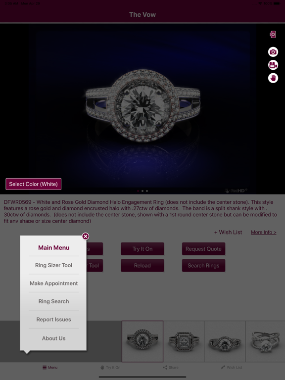 The Vow- Diamond Engagement Rings Finder screenshot