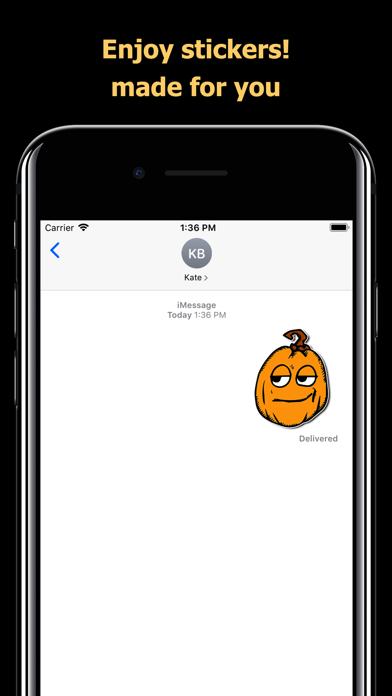 Halloween Mem emoji - pumpkin screenshot 5