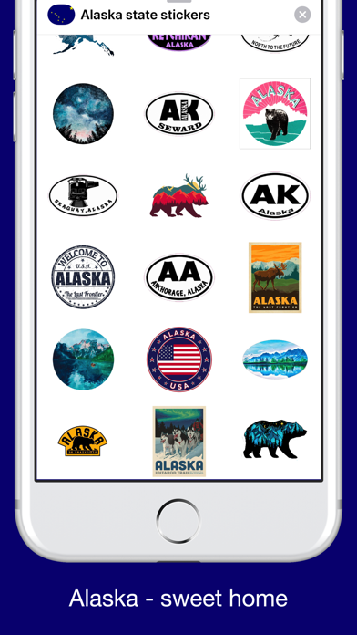 Screenshot for Alaska emojis - USA stickers in United States App Store