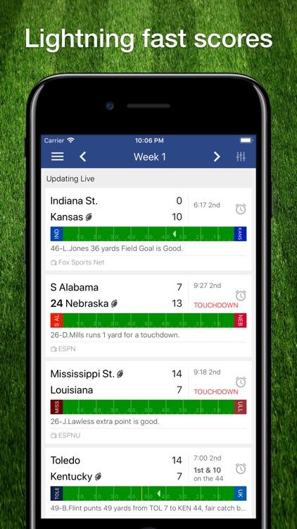 Scores App: College Football
