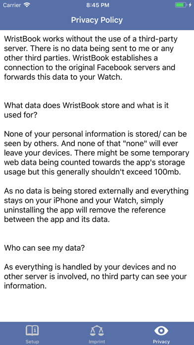 download WristBook for Facebook apps 1