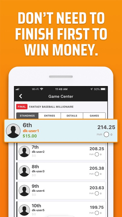 DraftKings Fantasy Sports screenshot-1