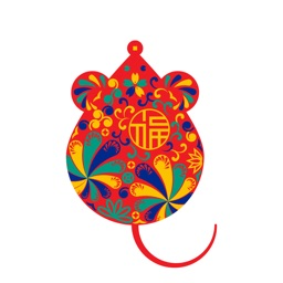 中国新年 Rat Chinese New year emo