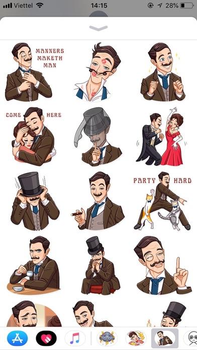Gentleman Style Funny Stickers screenshot 2