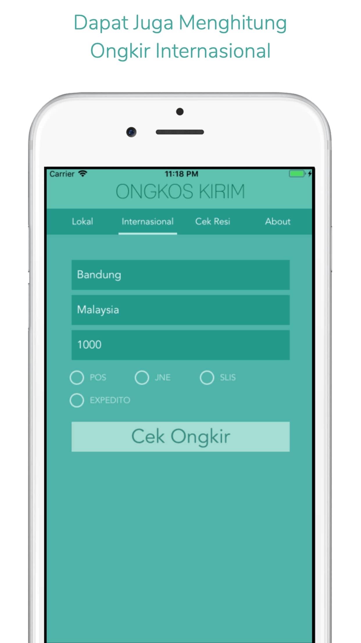 Ongkos Kirim & Cek Resi Screenshot