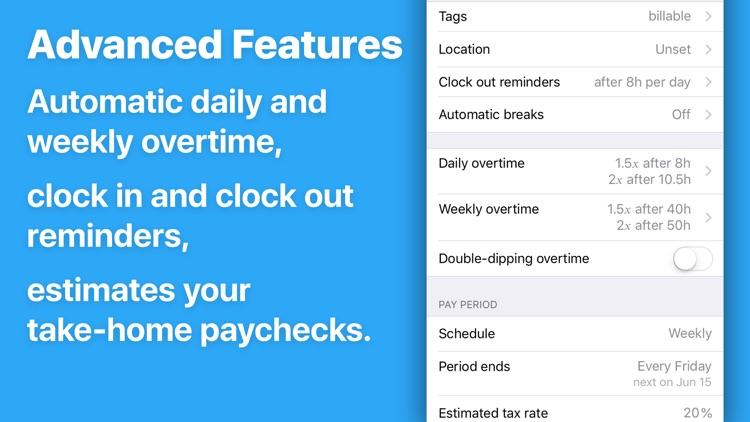 HoursTracker: Hours and Pay screenshot-4