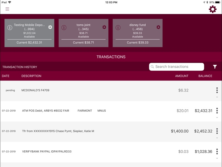 Bank Midwest for iPad