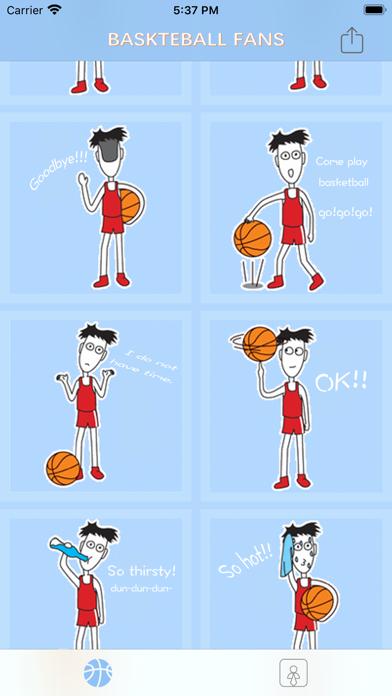 BasketBallFansStickers screenshot 2