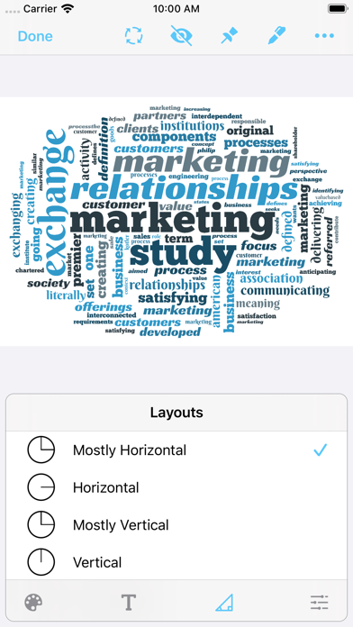 Screenshot #3 pour Wordsalad - Smart Word Clouds