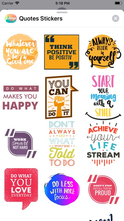 Quotes: Motivational Stickers screenshot-7