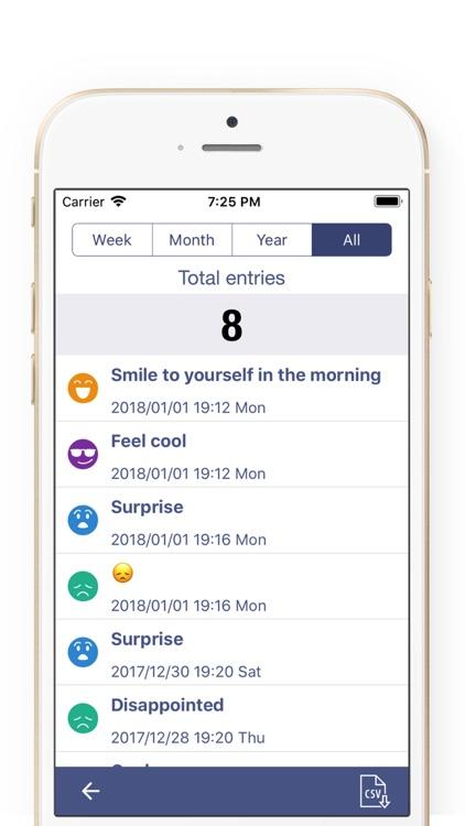 Mood Journal Tracker-Mood Note screenshot-3