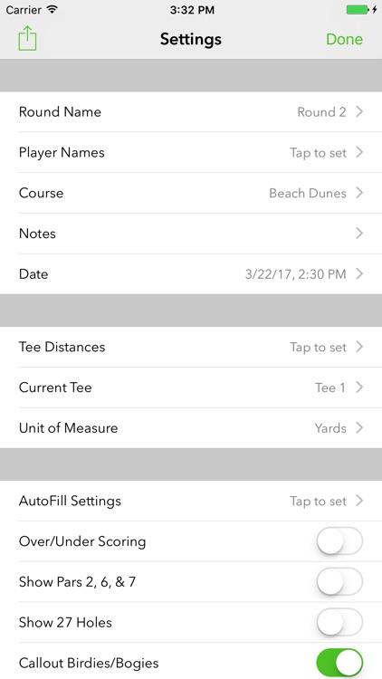Birdies Pro: Golf Scorecard screenshot-3