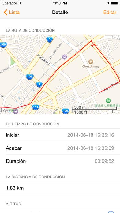 Driving RecCaptura de pantalla de4
